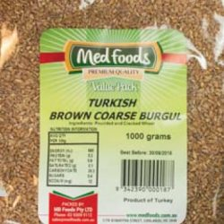 Turkish Brown Coarse Burgul