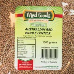 Australian Red Whole Lentils